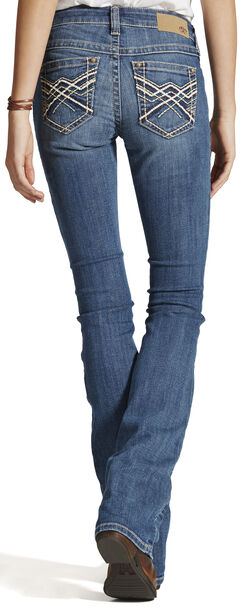 Ariat Women's Turquoise Impression Bootcut Jeans, Blue, hi-res