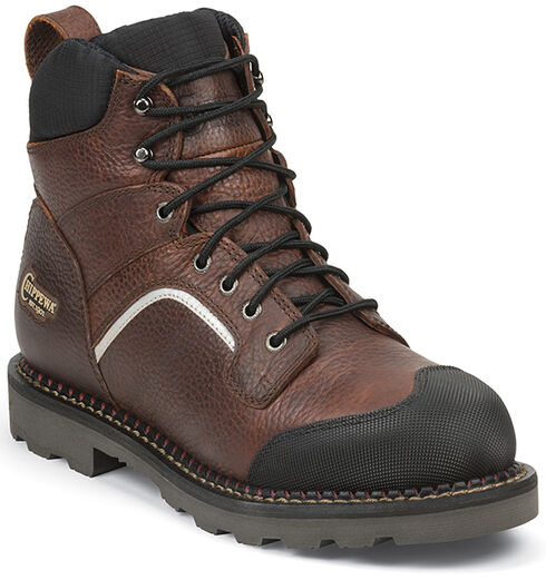 "Chippewa Men's 6"" Fall Flame Waterproof XOG Work Boots - Composite Toe, Peanut Brittle, hi-res"