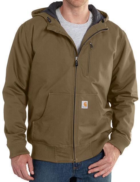 Carhartt Men's Quick Duck Jefferson Active Jacket, Brown, hi-res