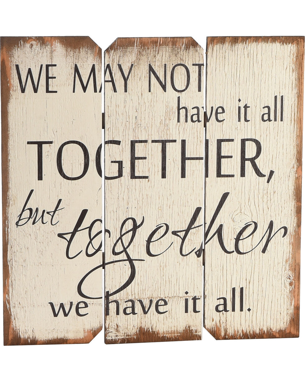 "BB Ranch ""Together We Have It All"" Wall Plaque, No Color, hi-res"