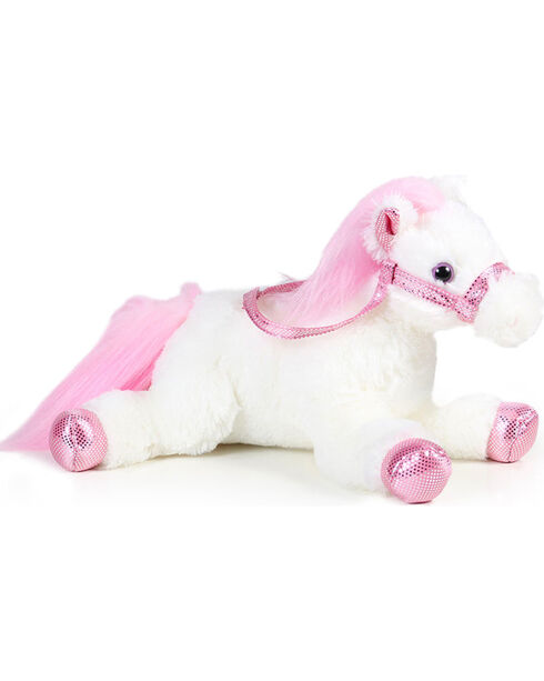 Aurora Flopsie Metallic Stuffed Horse, Pink, hi-res