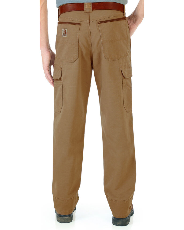 Wrangler Men's Cool Vantage Ripstop Cargo Pants, Brown, hi-res
