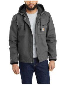 Carhartt Men's Gravel Washed Duck Sherpa Lined Work Jacket , Grey, hi-res