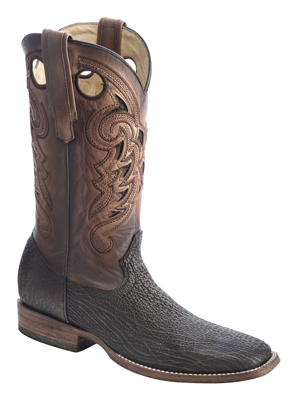 Corral Shark Vamp Cowboy Boots - Wide Square Toe, Brown, hi-res
