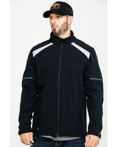 Hawx® Men's Black Reflective Polar Fleece Moto Work Jacket , Black, hi-res