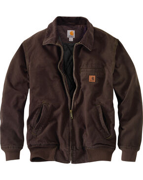 Carhartt Men's Dark Brown Bankston Jacket - Big & Tall, Dark Brown, hi-res