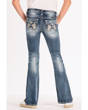 Miss Me Girls' Bling Butterfly Bootcut Jeans, Medium Blue, hi-res