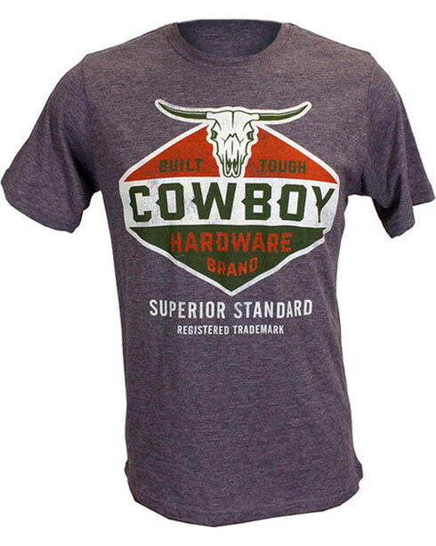 Cowboy Hardware Men's Built Tough Tee, Brown, hi-res