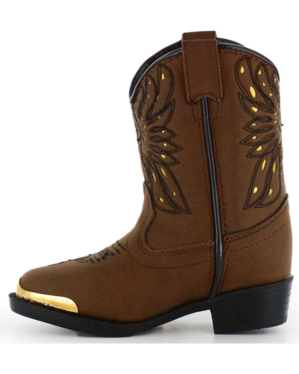 Shyanne Toddler Girls' Phoenix Western Boots - Narrow Round Toe , Brown, hi-res