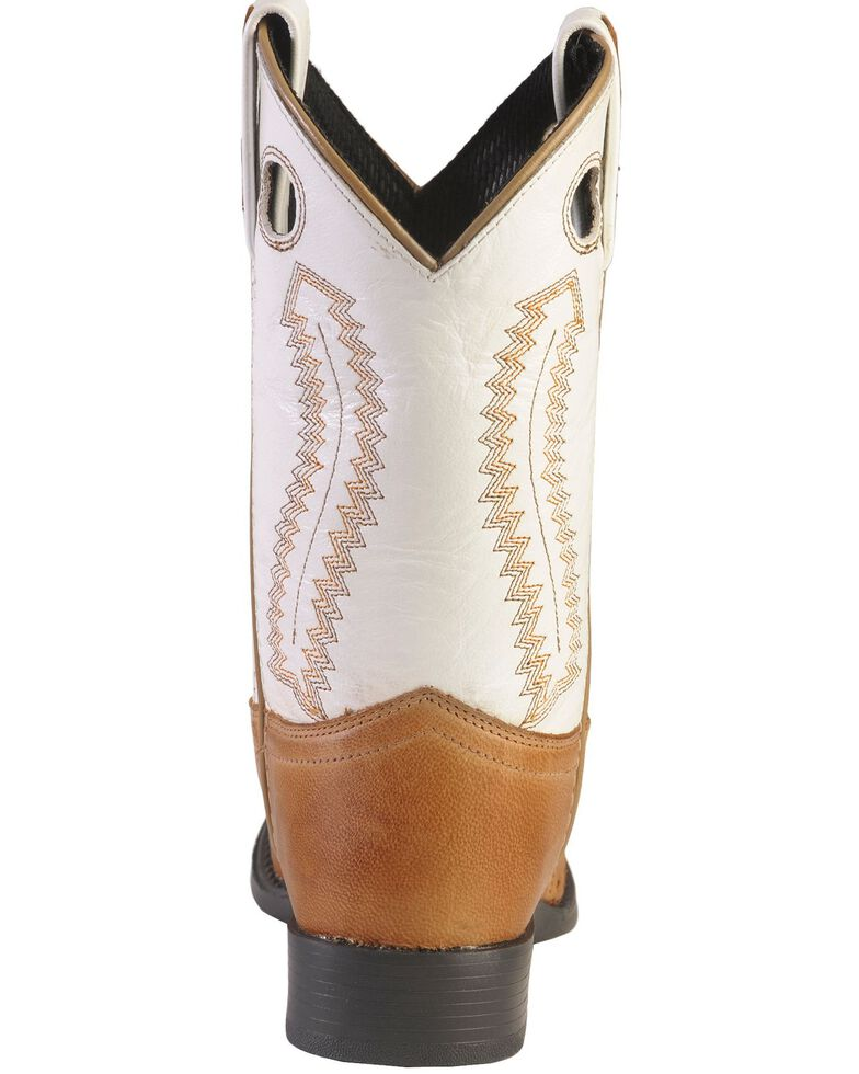 Old West Youth Ultra Flex Western Boots - Round Toe, Tan, hi-res