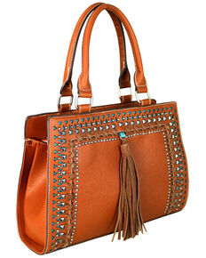 Montana West Women's Brown Cut-Out Collection Conceal Carry Satchel, Brown, hi-res