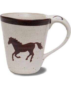 Big Sky Carvers Brushwerks Horse Mug Set of 4, Cream, hi-res