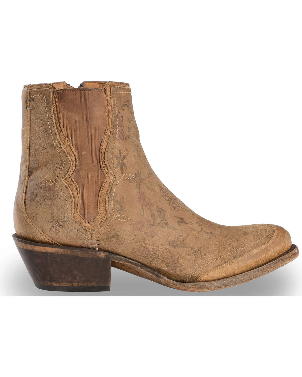 Lucchese Women's Handmade Natural Gia Chelsea Short Boots - Pointed Toe , Natural, hi-res