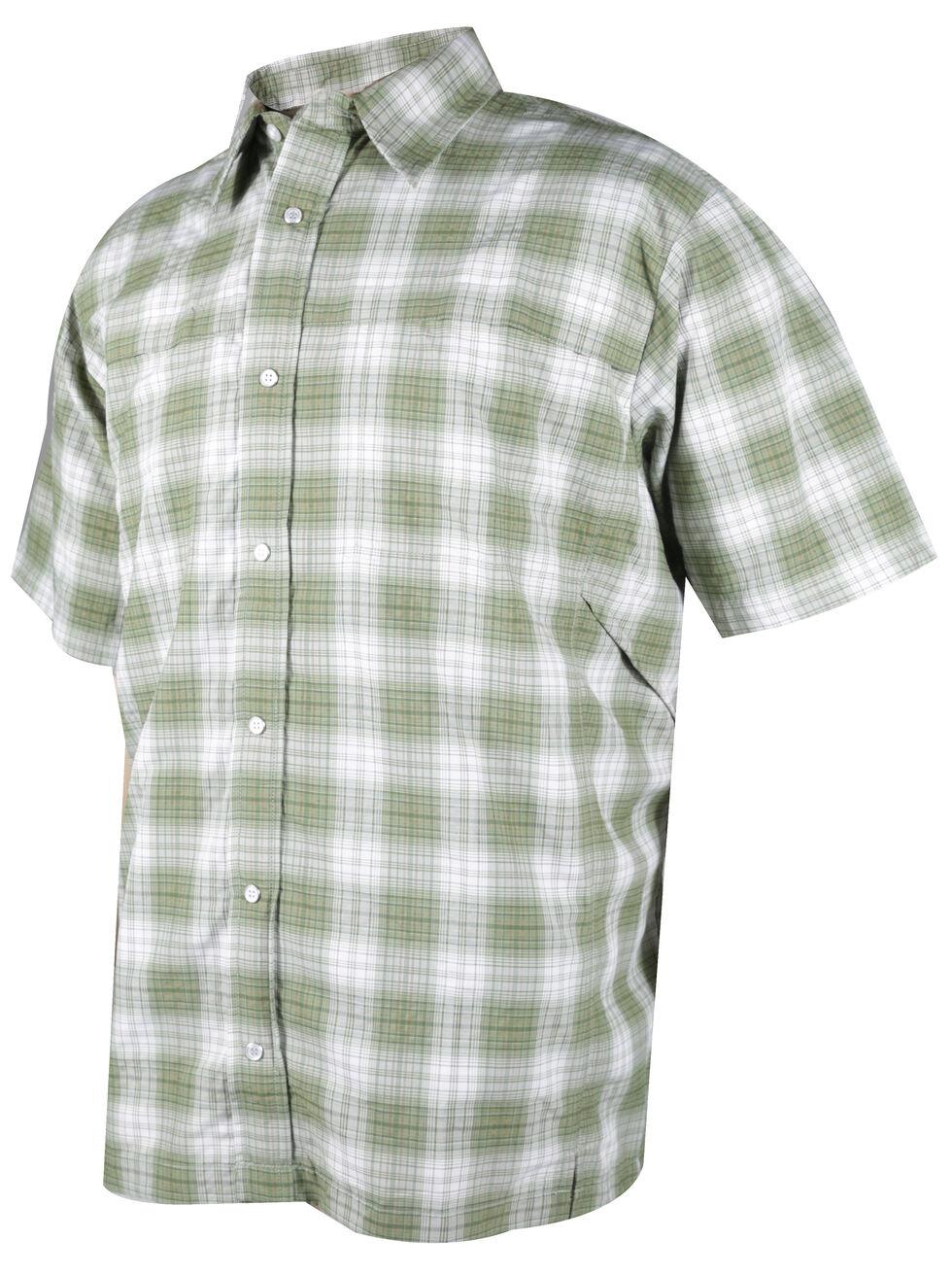 Tru-Spec Men's Green Plaid 24-7 Cool Camp Shirt , Green, hi-res