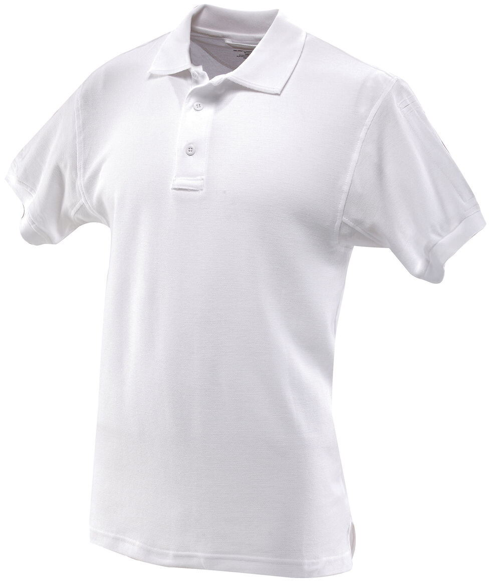 Tru-Spec Men's 24-7 Series Classic Cotton Polo Shirt, White, hi-res