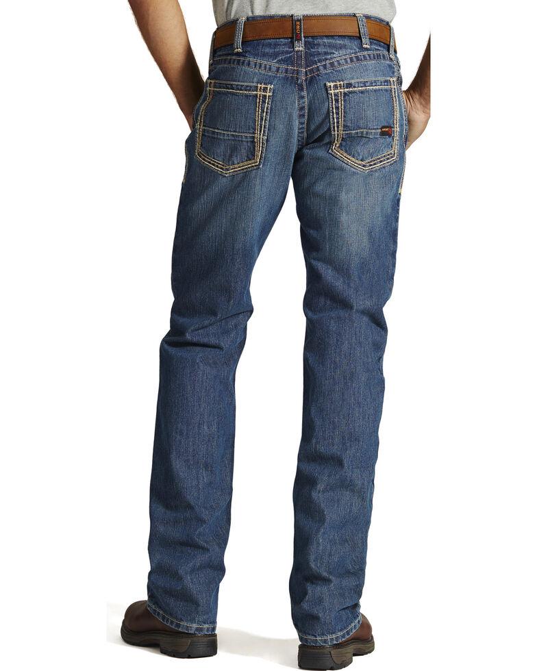 Ariat Men's Fire-Resistant M4 Clay Low-Rise Bootcut Work Jeans, Denim, hi-res