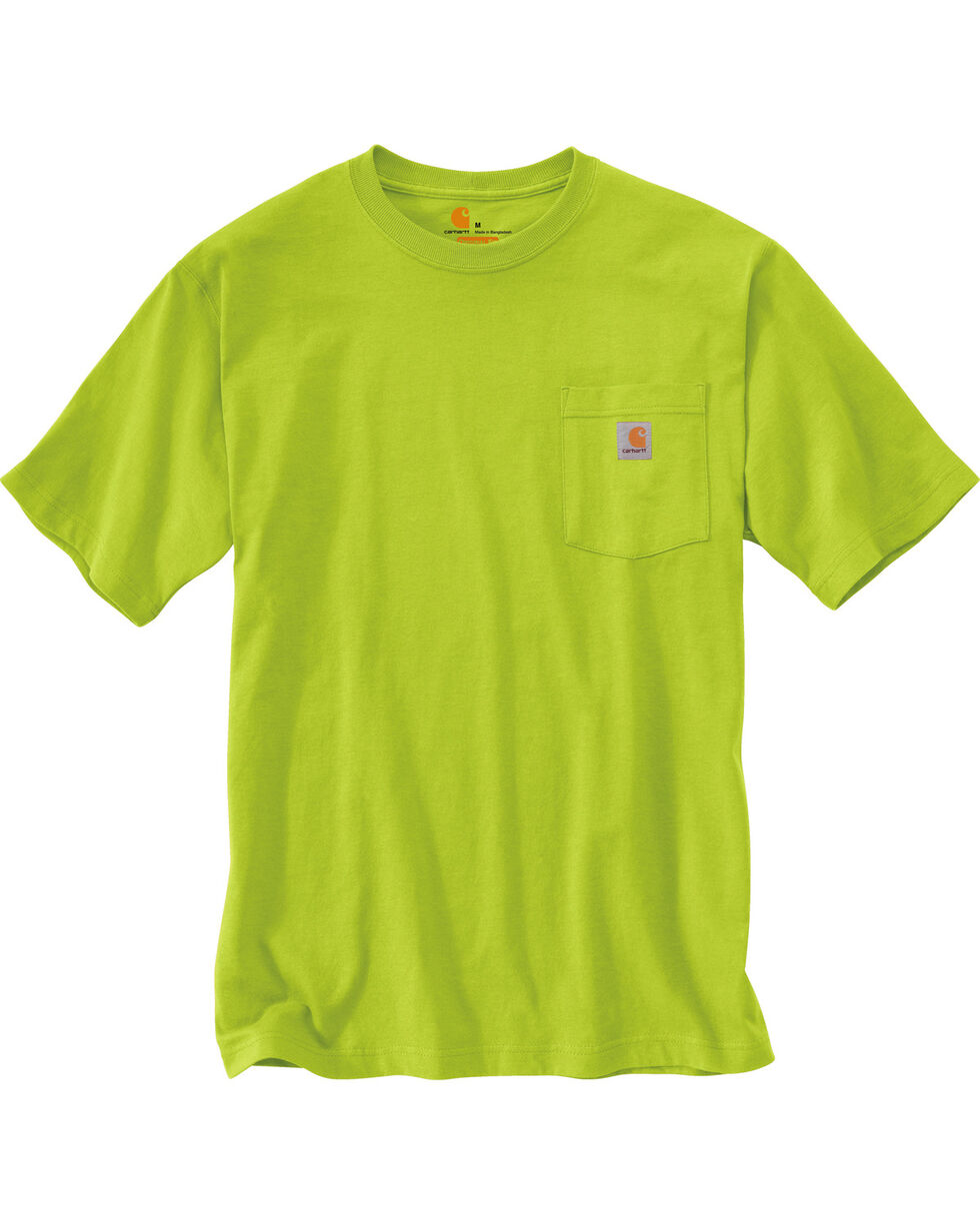 Carhartt Men's Short Sleeve Pocket Work T-Shirt, Green, hi-res