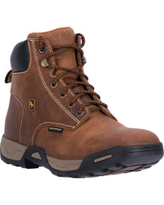 Dan Post Men's Tan Cabot Waterproof Work Boots - Soft Round Toe , Tan, hi-res