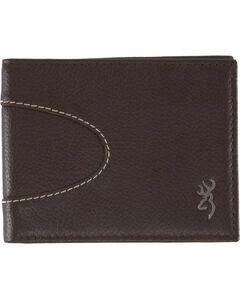 Browning Men's Wanderer Bi-Fold Leather Wallet, Dark Brown, hi-res