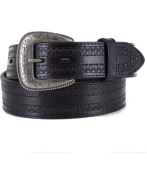 Cody James Men's Black Engraved Belt , Black, hi-res