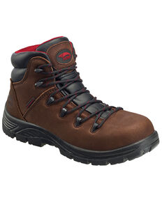 Avenger Men's Waterproof Hiker Boots - Composite Toe, Brown, hi-res