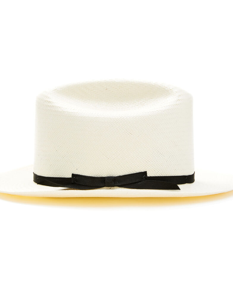 Stetson Men's White Shantung Open Road Western Straw Hat, Natural, hi-res