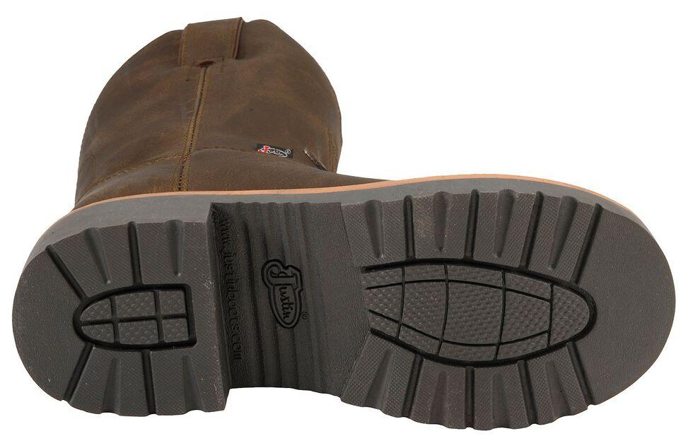 Justin Children's Work Boots - Round Toe, Brown, hi-res