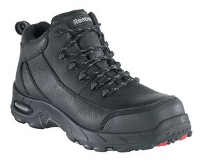 Reebok Women's Tiahawk Waterproof Sport Hiking Boots - Composite Toe, Black, hi-res