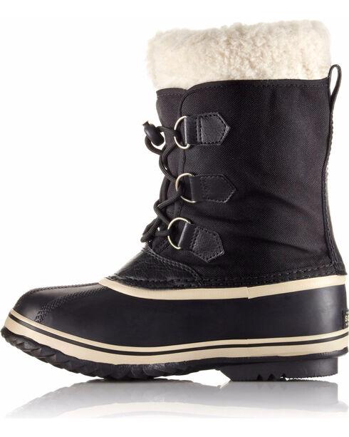 Sorel Boys' Black Yoot Pac Nylon Boots - Round Toe , Black, hi-res