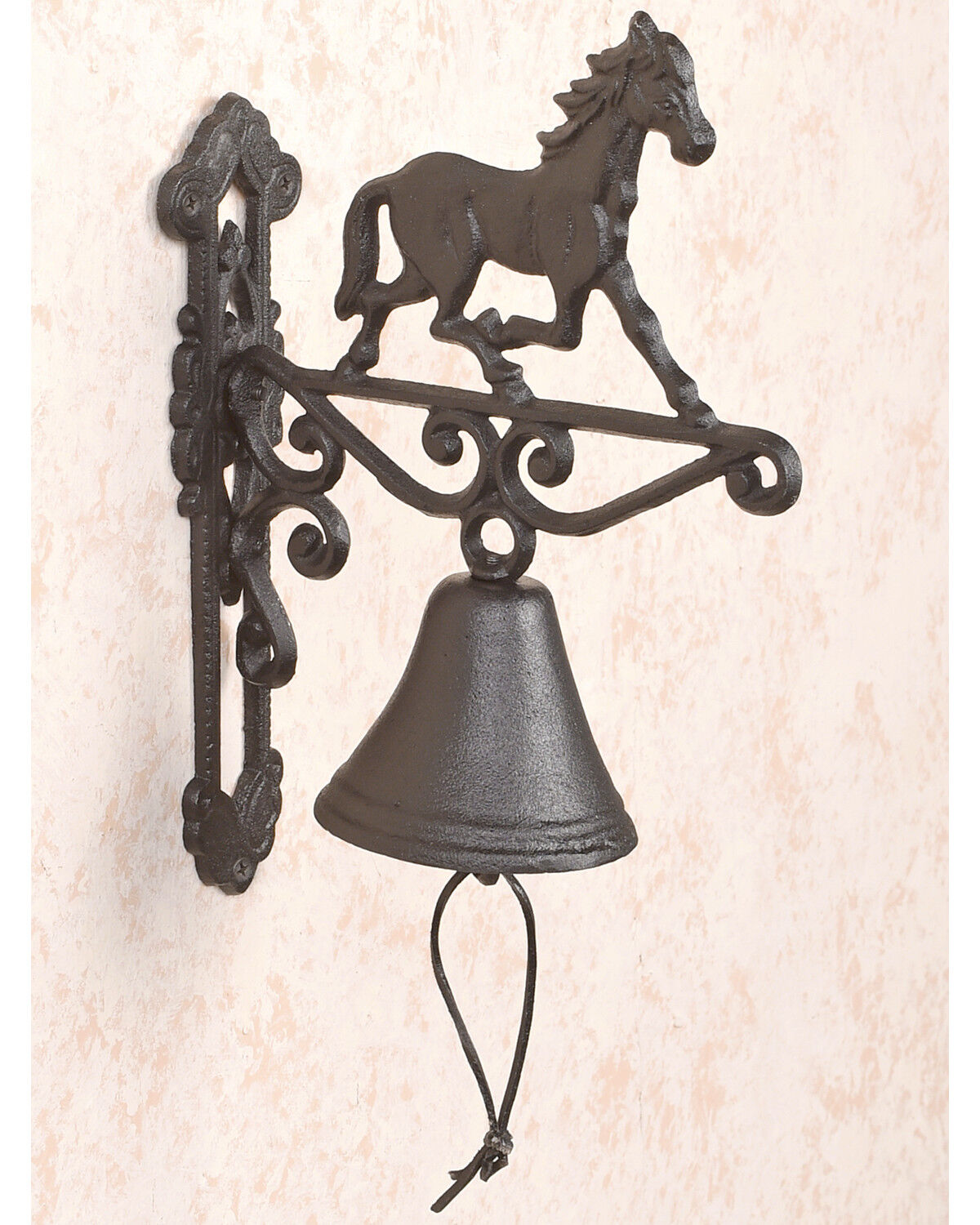 BB Ranch Cast Iron Horse Bell , Turquoise, Hi Res