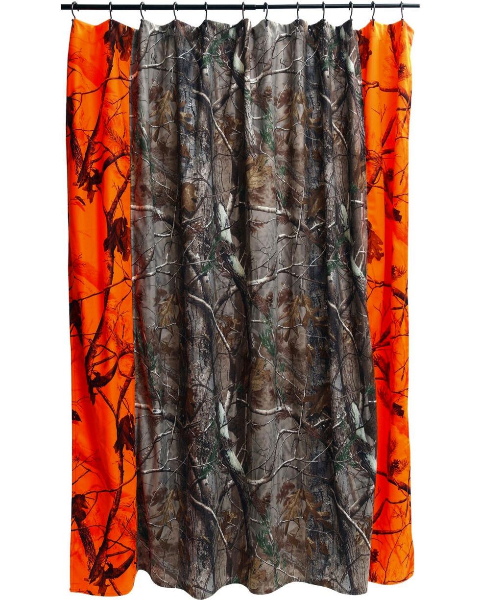 Carstens Realtree AP Blaze Shower Curtain , Orange, hi-res