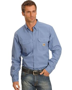 Carhartt Flame Resistant Two-Pocket Work Shirt - Big & Tall, Blue, hi-res