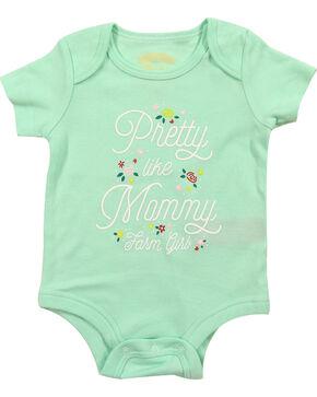 Farm Girl Infant Girls' Short Sleeve Pretty Like Mommy Onesie, Light Green, hi-res