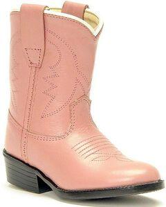 Old West Toddler Girls' Cowboy Boots, Pink, hi-res