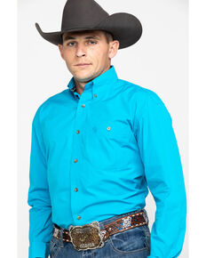 ac6152913 George Strait by Wrangler Mens Solid Long Sleeve Button Down Western Shirt,  Green, hi