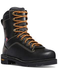 Danner Men's Quarry USA Work Boots - Alloy Toe, Black, hi-res