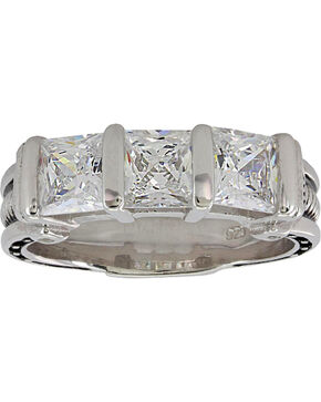 Montana Silversmiths Women's Silver Horseshoe Nail Ring , Silver, hi-res