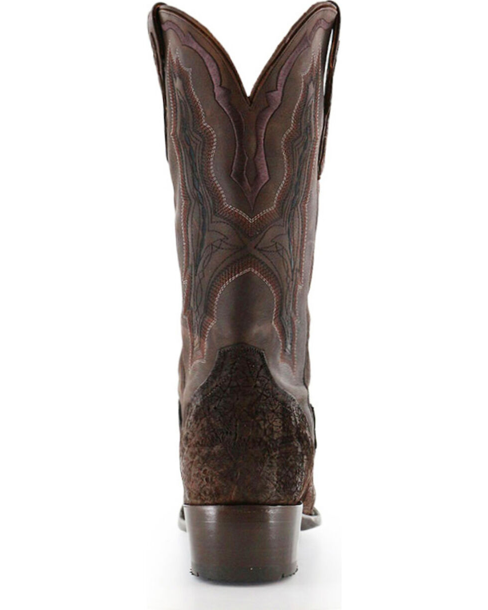 El Dorado Men's Handmade Genuine Sueded Hippo Western Boots - Square Toe, Chocolate, hi-res