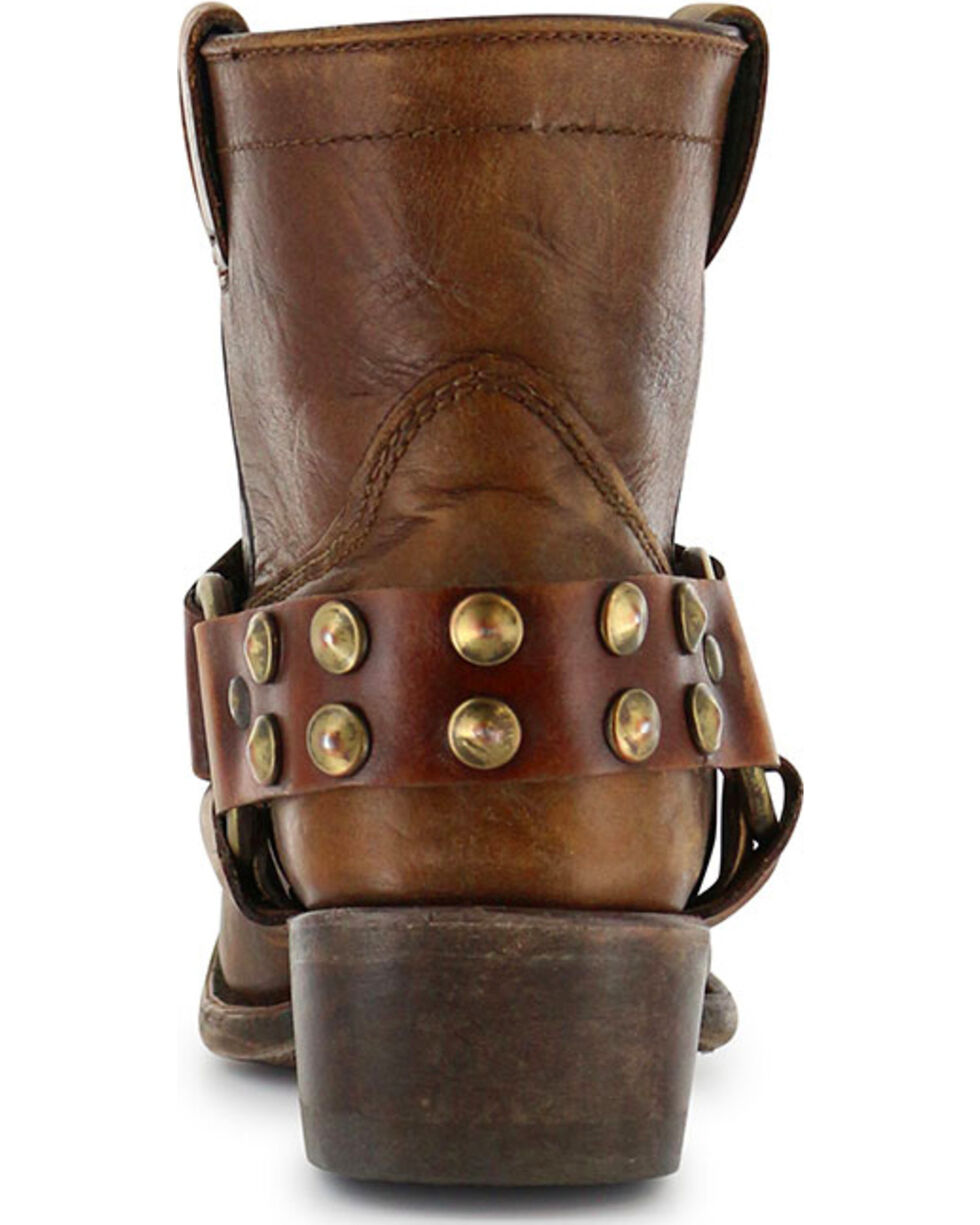 Corral Women's Ankle Harness Short Boots - Round Toe, Tan, hi-res