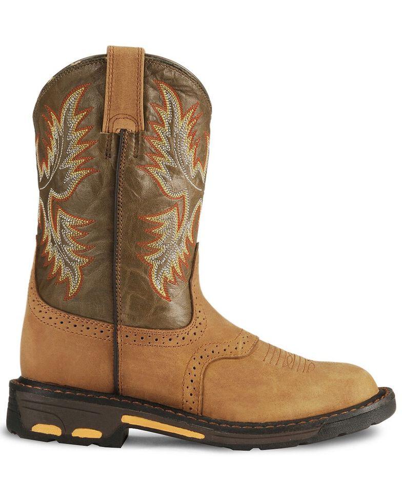 Ariat Boys' Aged Bark Workhog Cowboy Boots - Round Toe, Aged Bark, hi-res