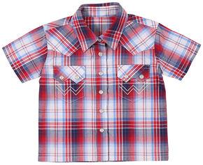 Wrangler Infant Boys' American Spirit Short Sleeve Plaid Shirt, Am Spirit, hi-res