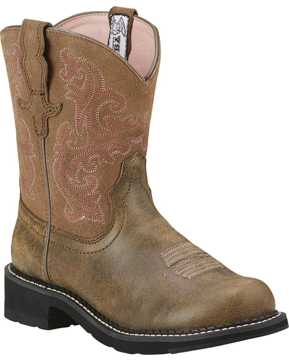 Ariat Fatbaby Brown Bomber Leather Boots - Crepe Sole, Brn Bomber, hi-res