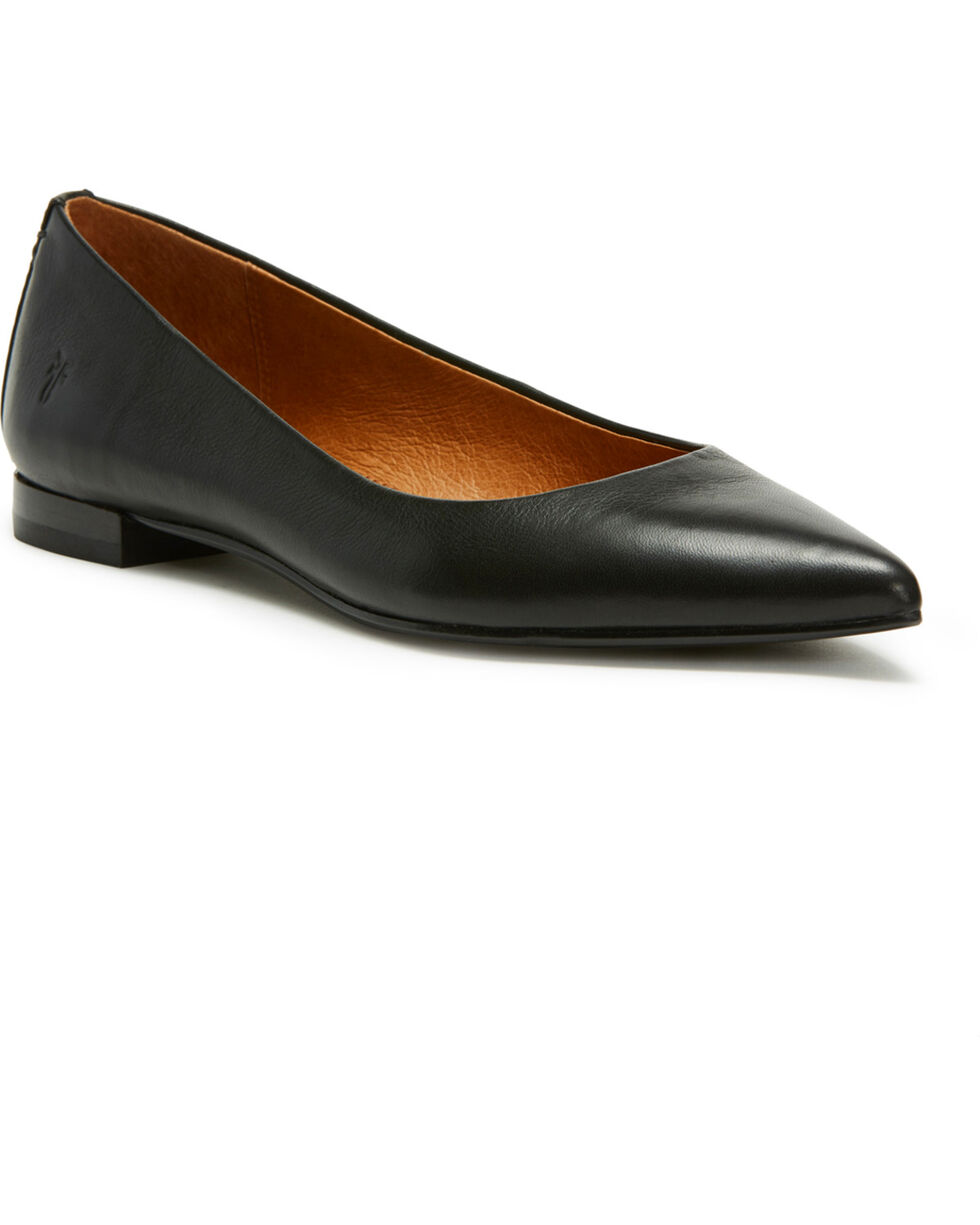 Frye Women's Black Sienna Ballet Flats - Pointed Toe, Black, hi-res