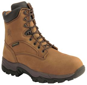 "Chippewa Waterproof Bay Apache 8"" Lace-Up Work Boots - Composite Toe, Bay Apache, hi-res"