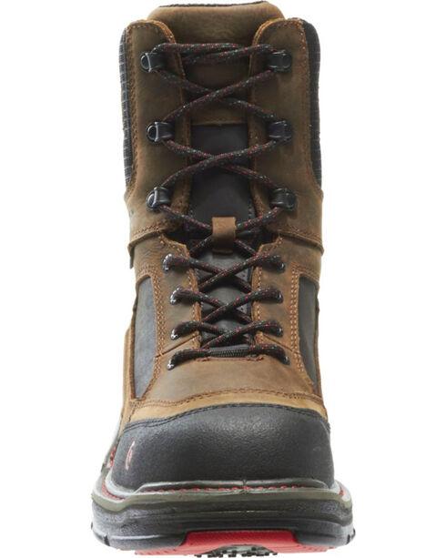 """Wolverine Men's Brown Overman Waterproof Carbonmax 8"""" Work Boots - Round Toe , Black/brown, hi-res"""