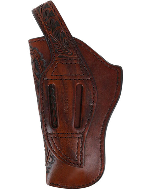 3D Brown Basketweave Revolver Holster, Brown, hi-res