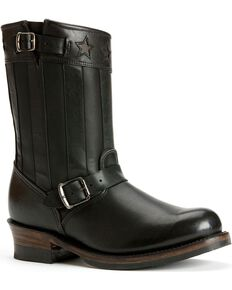 Frye Women's Engineer Americana Short Boots - Round Toe, Black, hi-res