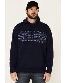 Ariat Men's Navy Aztec Basic Stripe Hooded Sweatshirt , Navy, hi-res