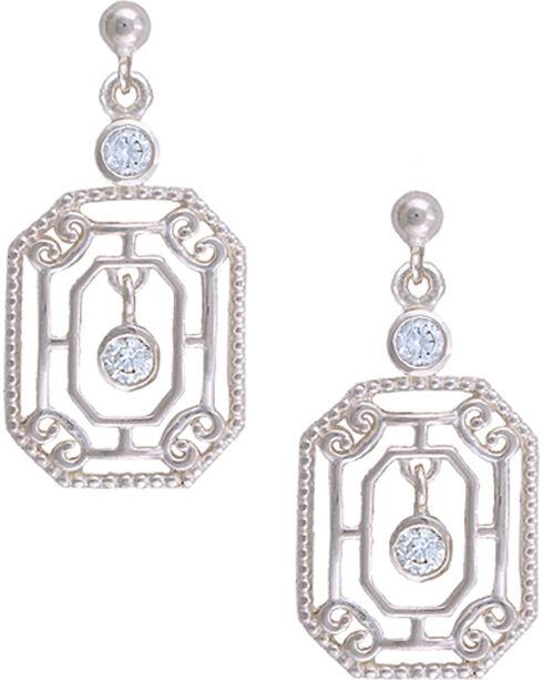 Montana Silversmiths Petite Vintage Oriel Earrings, Silver, hi-res