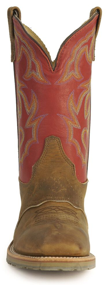 Double H ICE Saddle Vamp Work Roper Boots - Square Toe, Golden Tan, hi-res